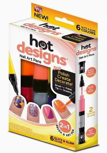 قلم و لاک طراحی ناخن هات دیزاین اصل